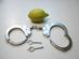 Peerless nickel plated steel handcuffs, Model No 700N